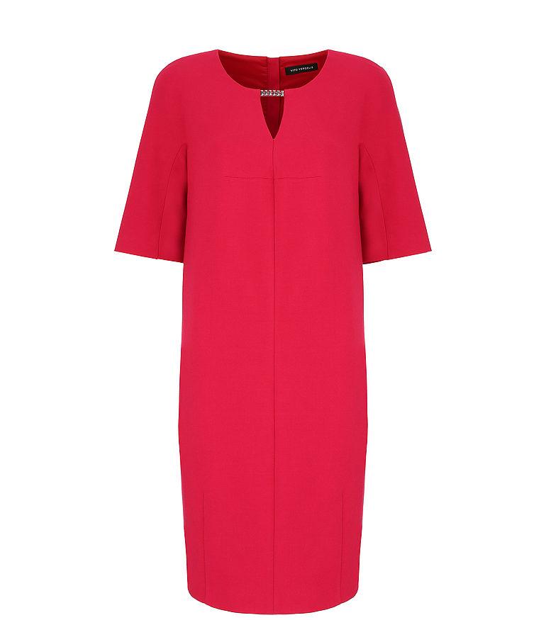 Czerwona sukienka z aplikacją