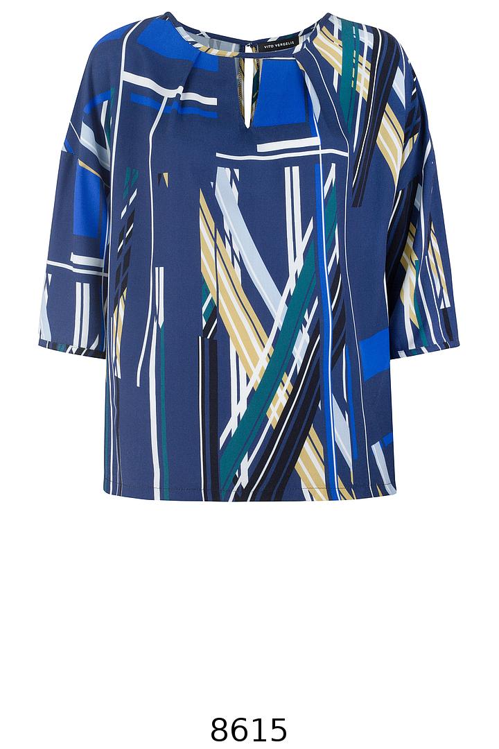 Kolorowa bluzka oversize z wiskozy Vito Vergelis