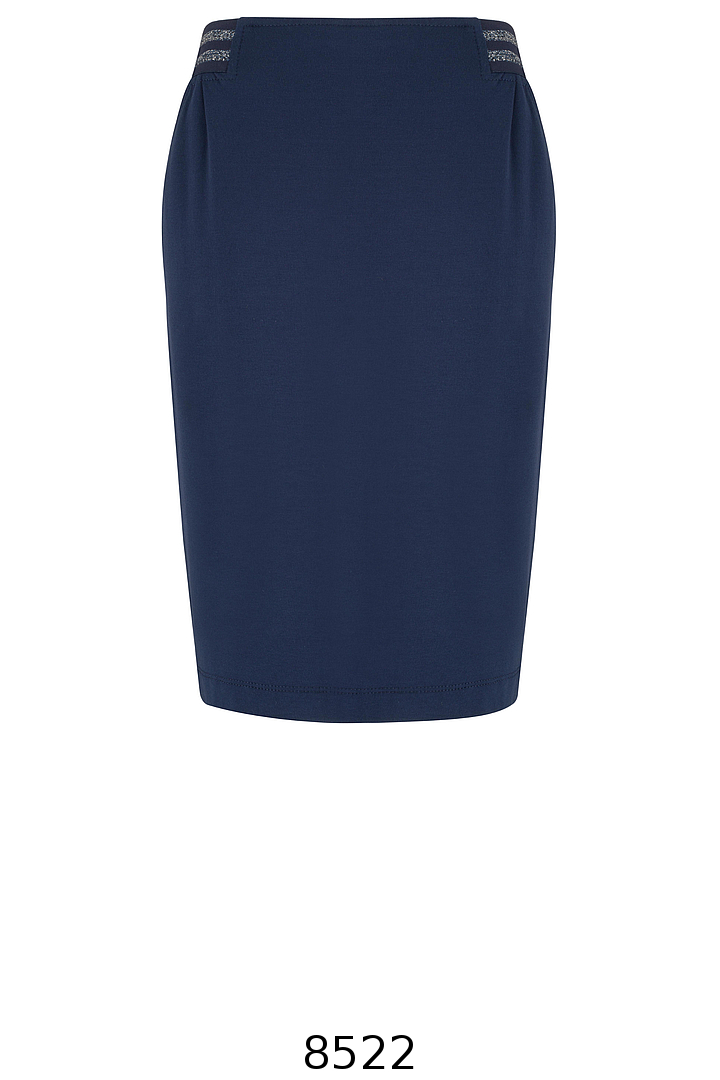 Granatowa dzianinowa spódnica z gumą Vito Vergelis