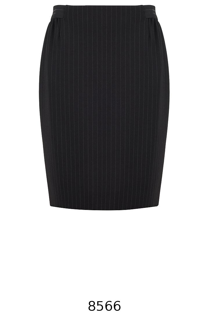czarne dzianinowa spódnica w prążek z gumą w pasie Vito Vergelis