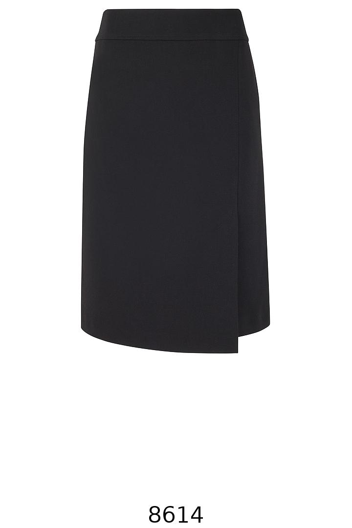 czarna spódnica z asymetrycznym przodem. Spódnica Vito Vergelis.