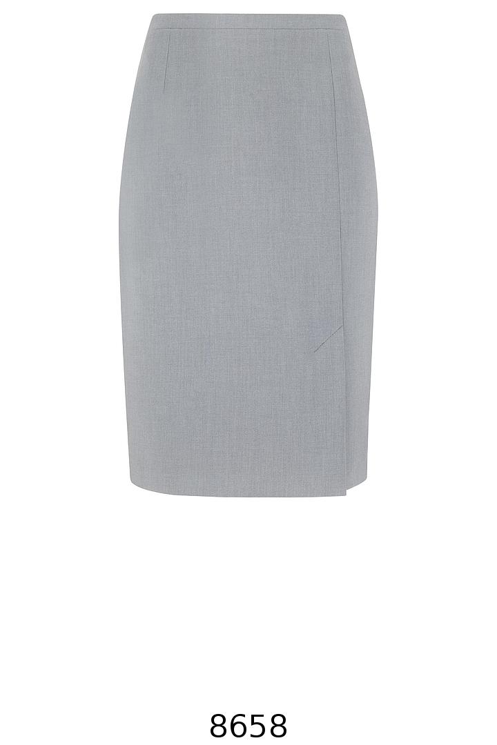 klasyczna szara spódnica ołówkowa. Spódnica Vito Vergelis