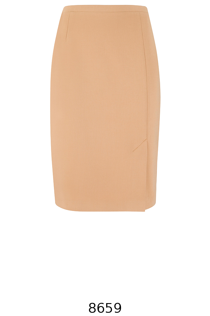 klasyczna beżowa spódnica ołówkowa. Spódnica Vito Vergelis
