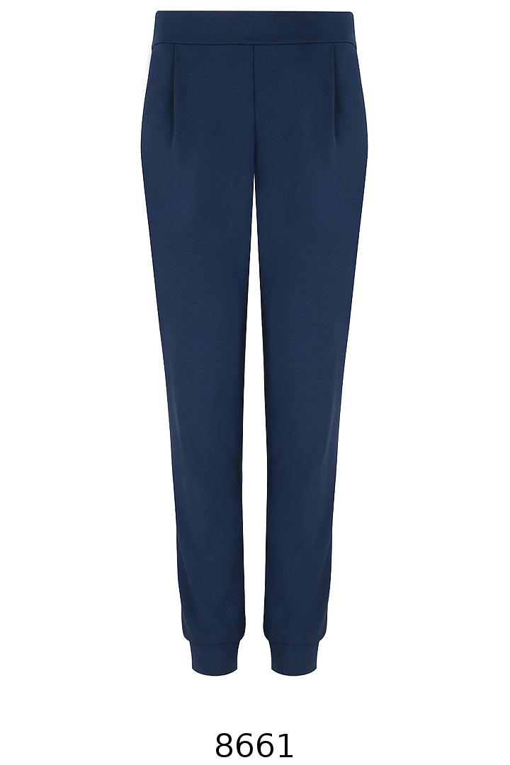 Granatowe dresowe spodnie z lampasem Vito Vergelis.