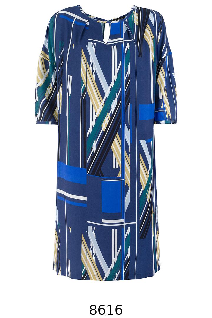 sukienka z wiskozy w graficzny nadruk. Sukienka plus size Vito Vergelis.