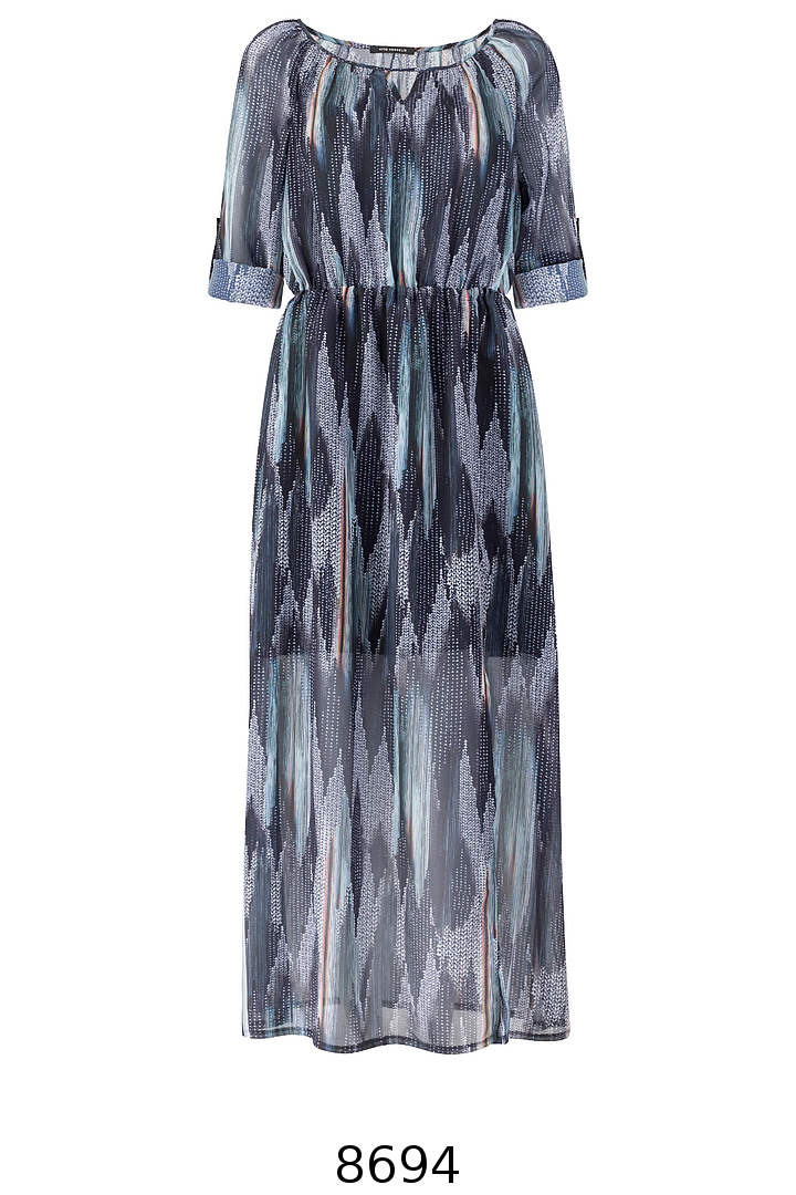 Długa, zwiewna sukienka z rozcięciem Vito Vergelis.