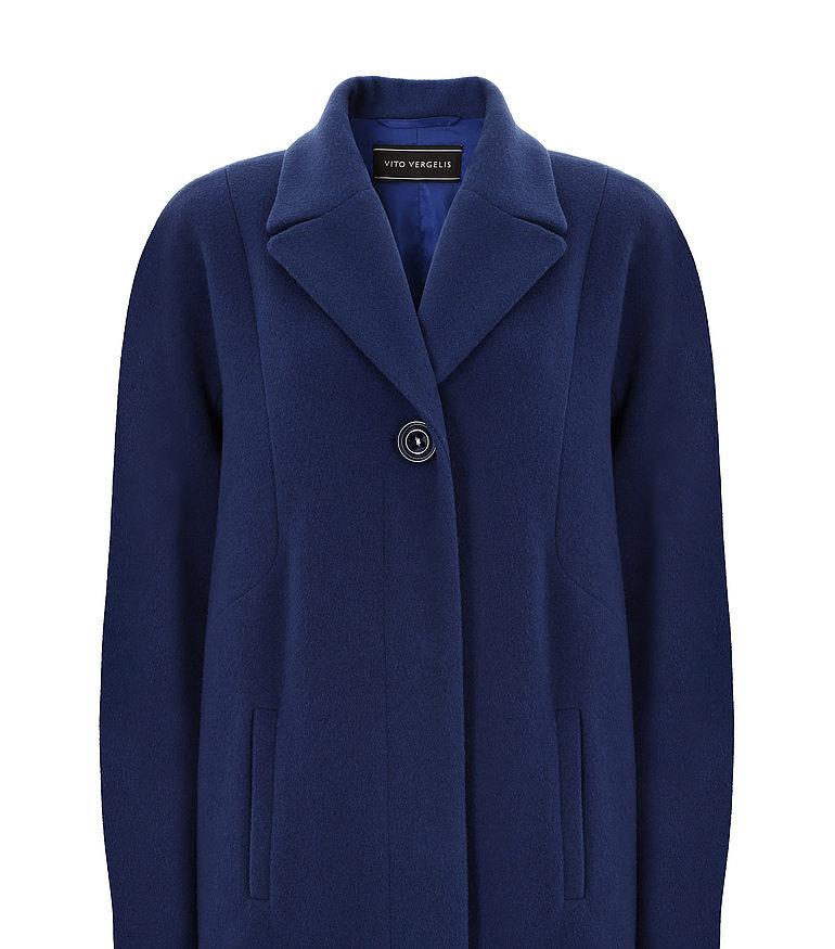 niebieska kurtka z wełny owczej