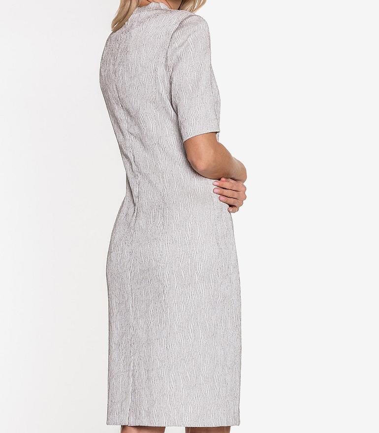 sukienka szara tłoczony wzór Vito Vergelis