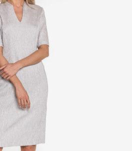 Szara sukienka tuba