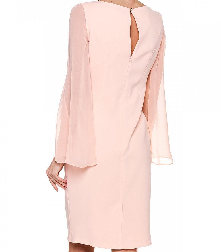 Różowa sukienka z szyfonowym rękawem marki Vito Vergelis