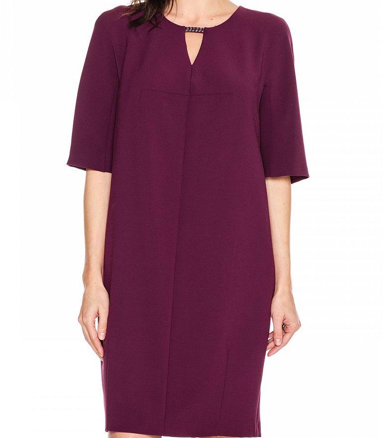 bordowa sukienka oversize