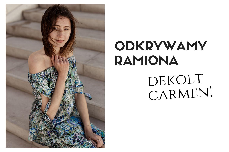 Odkrywamy ramiona - sukienka hiszpanka z odkrytymi ramionami i dekoltem carmen marki Vito Vergelis