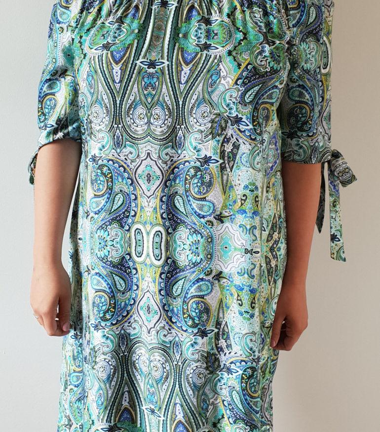 Zielona sukienka hiszpanka
