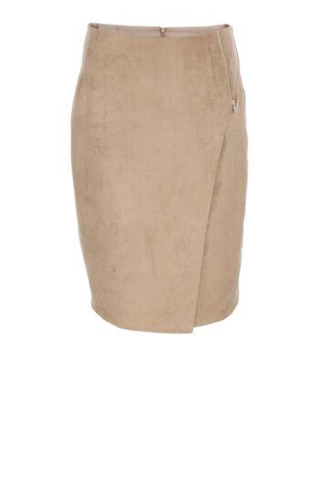 Beżowa zamszowa spódnica marki Vito Vergelis