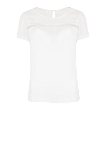Biała bluzka Vito Vergelis z prześwitującą wstawką