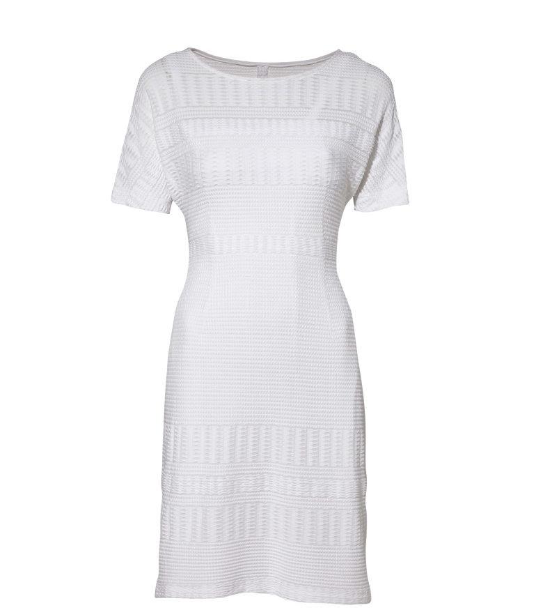 Biała sukienka dzianinowa