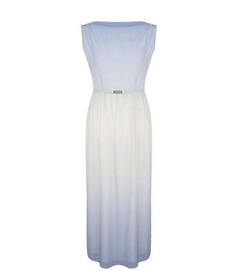 Długa cieniowana sukienka