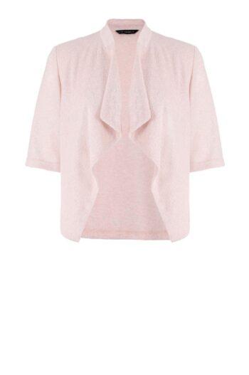 różowa narzutka Vito Vergelis. Dzianinowy, krótki sweterek na sukienkę.