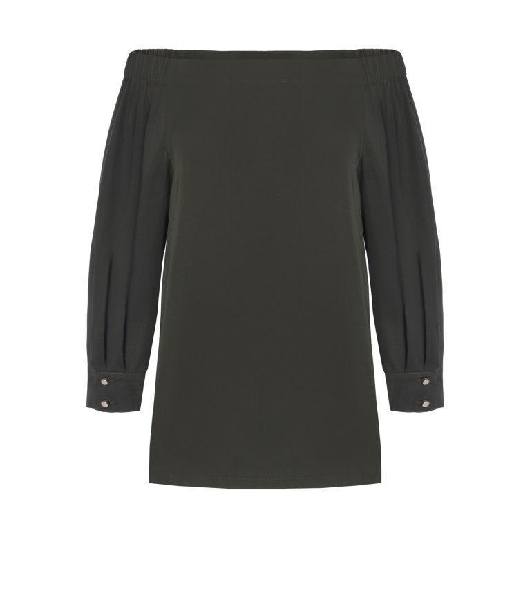 Bluzka hiszpanka khaki