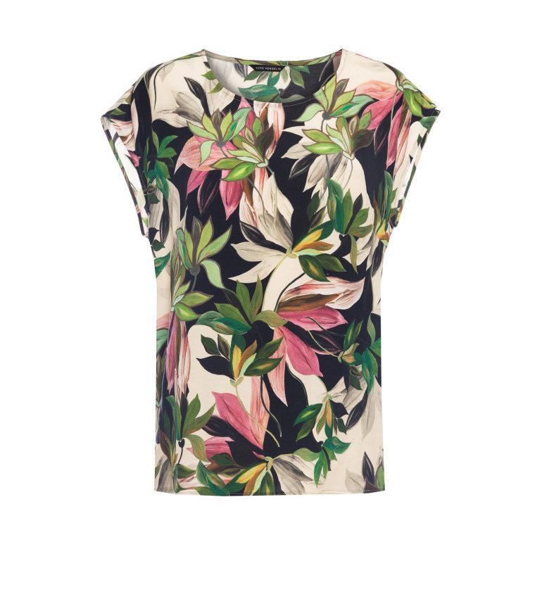 Bluzka w kwiaty z cupro