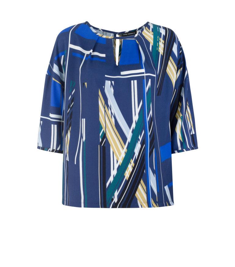 bluzka oversize z wiskozy