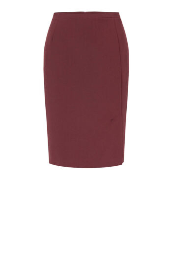 bordowa spódnica ołówkowa z rozporkiem marki Vito Vergelis