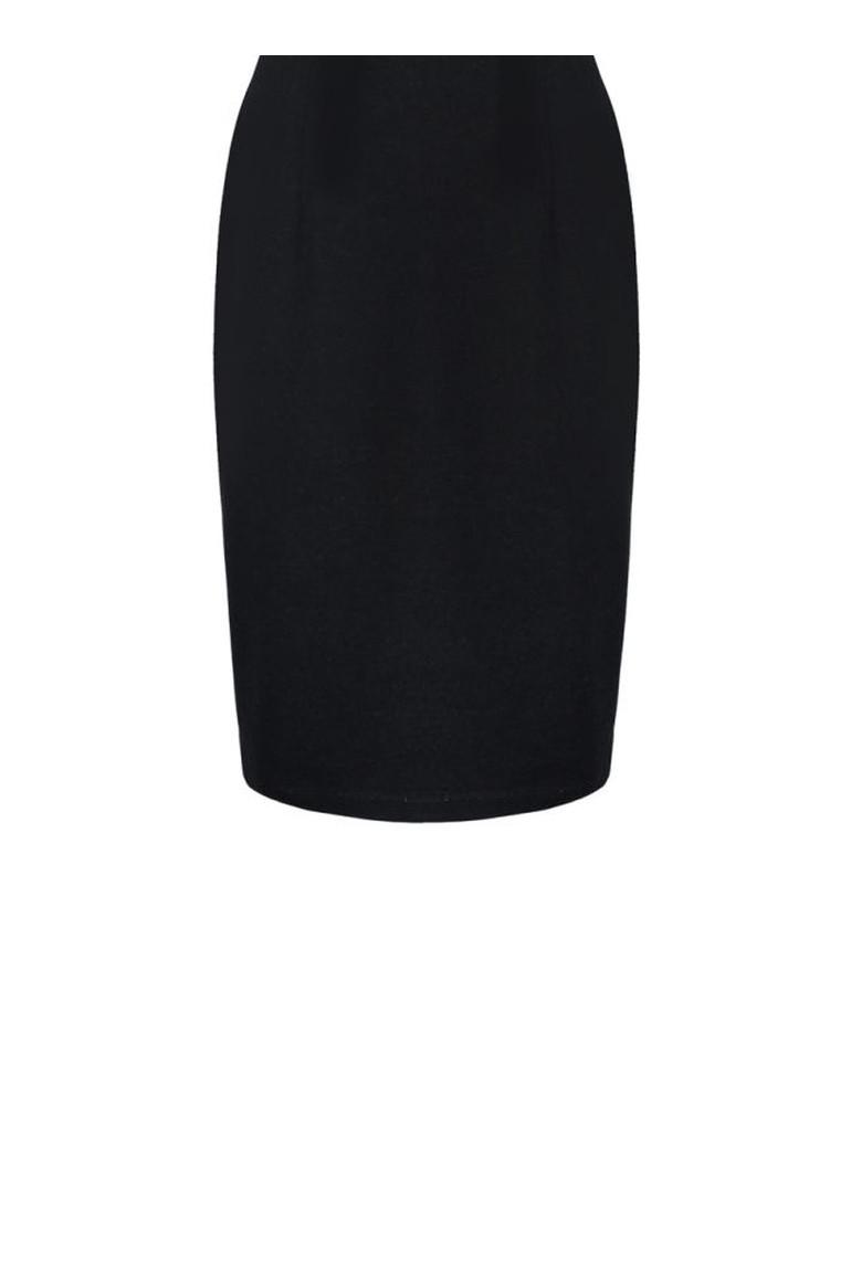 Czarna spódnica dzianinowa na gumie