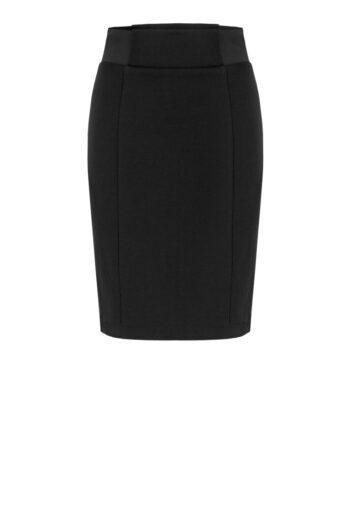 czarna dzianinowa spódnica z gumą po bokach Vito Vergelis