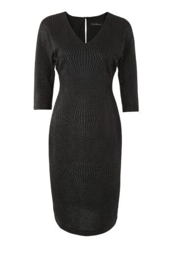 Czarna sukienka kimonowa polskiej marki Vito Vergelis