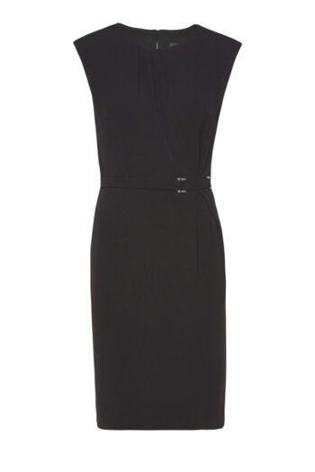 czarna sukienka Vito Vergelis bez rękawków, z klamrą