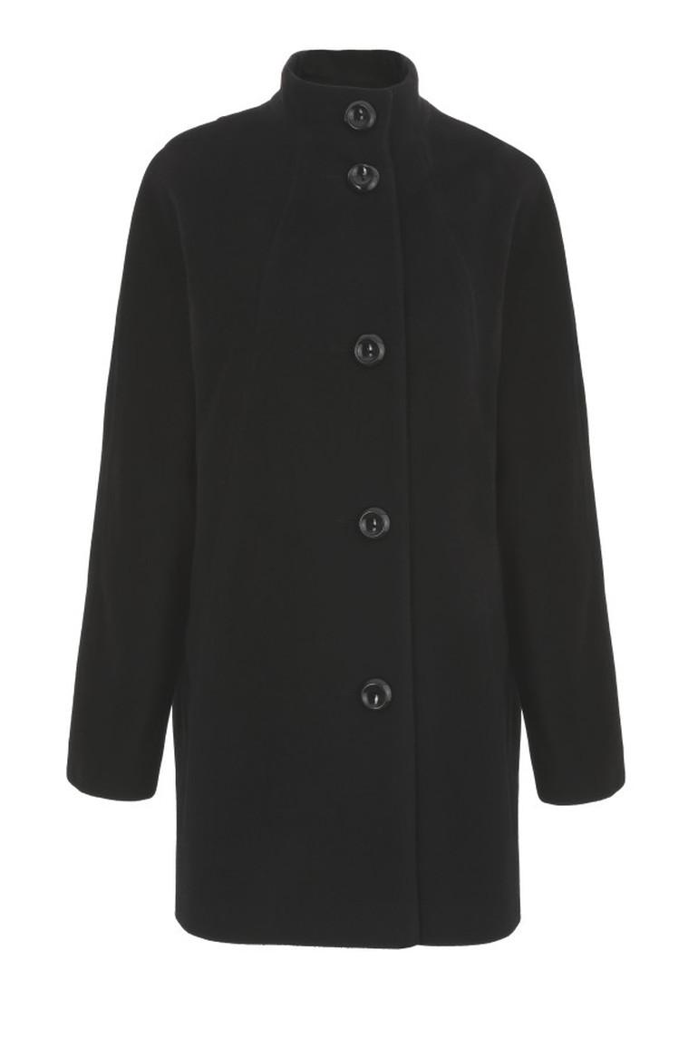 czarna wełniana kurtka Vito Vergelis. Kurtka na guziki ze stójką