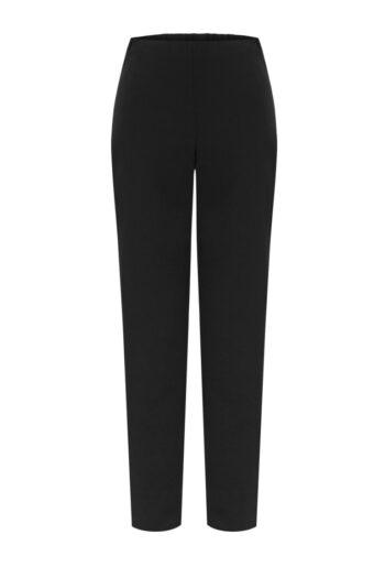 Czarne cygaretki z wiskozy. Spodnie damskie na gumie marki Vito Vergelis