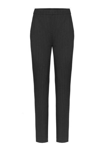 Linia biznes. Czarne spodnie damskie w prążek polskej marki Vito Vergelis