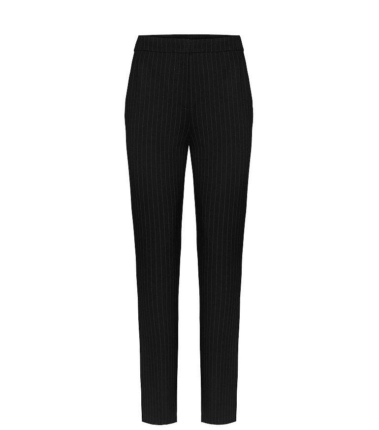 czarne dzianinowe spodnie w prążek