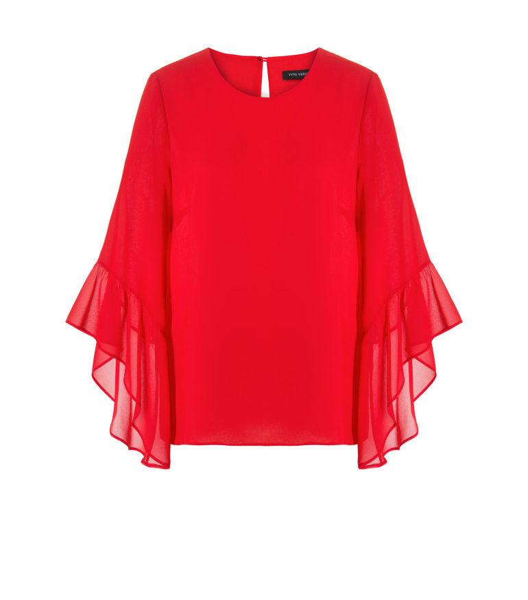 Czerwona bluzka z szyfonu