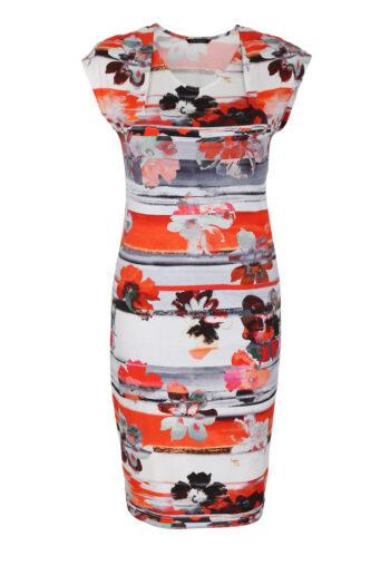 Pomarańczowa sukienka dzianinowa Vito Vergelis 7126