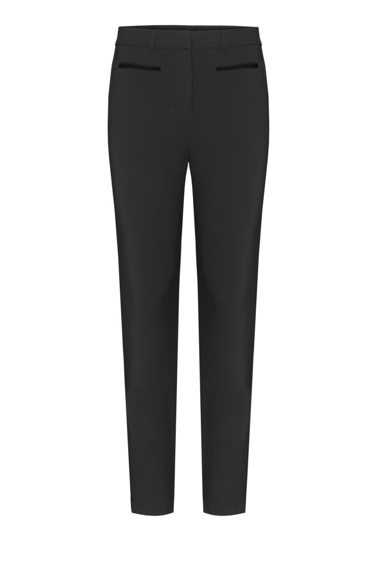 Czarne elastyczne spodnie