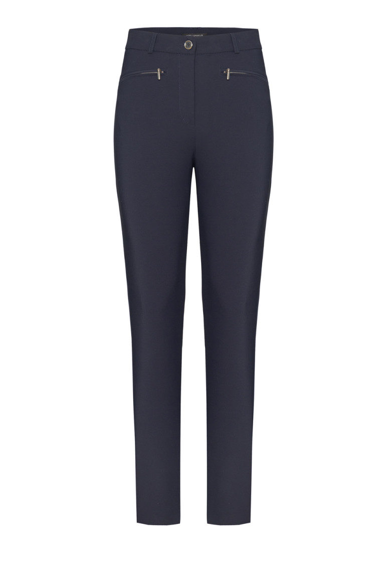 Granatowe spodnie z elastanem
