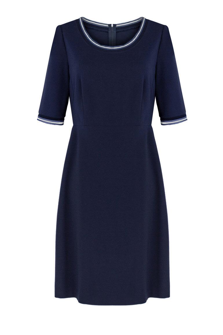 Granatowa odcinana sukienka