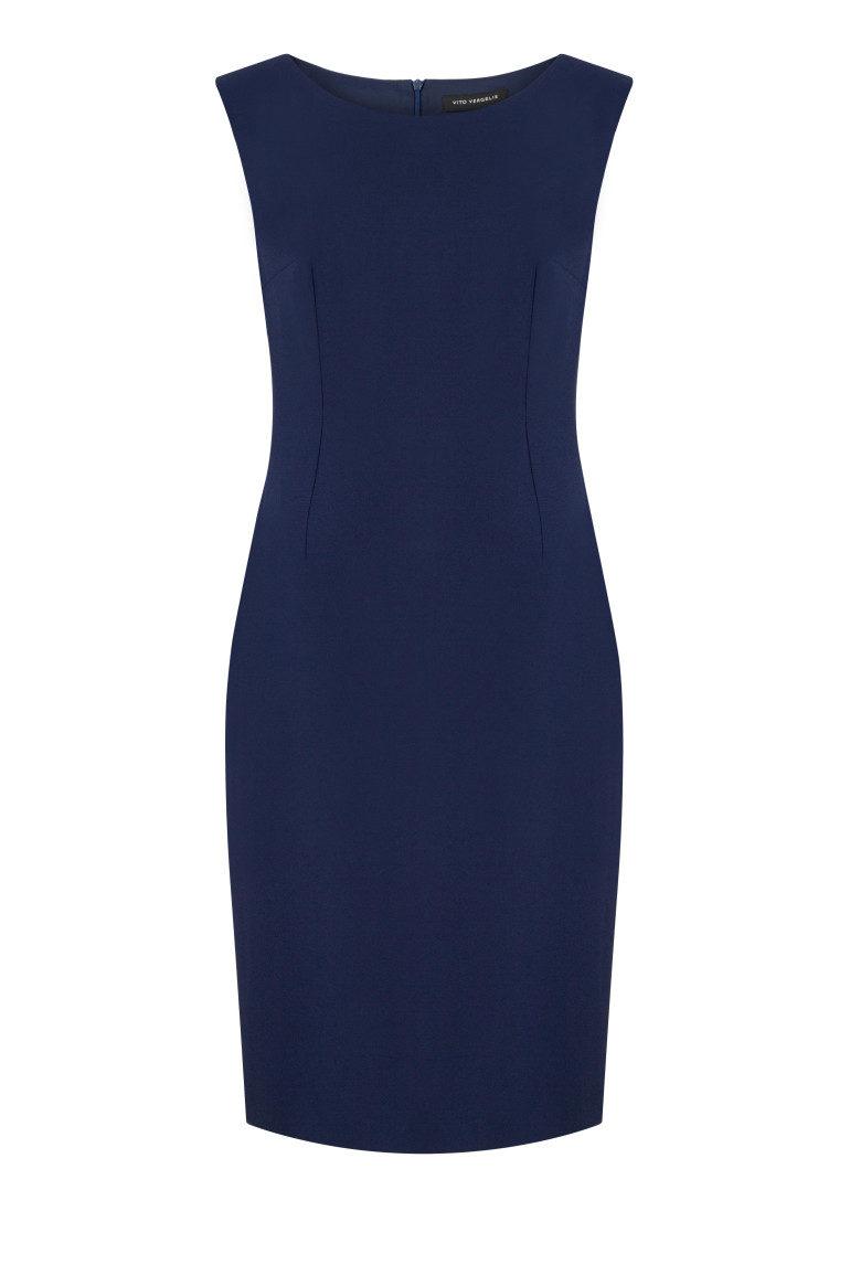 Granatowa sukienka ołówkowa