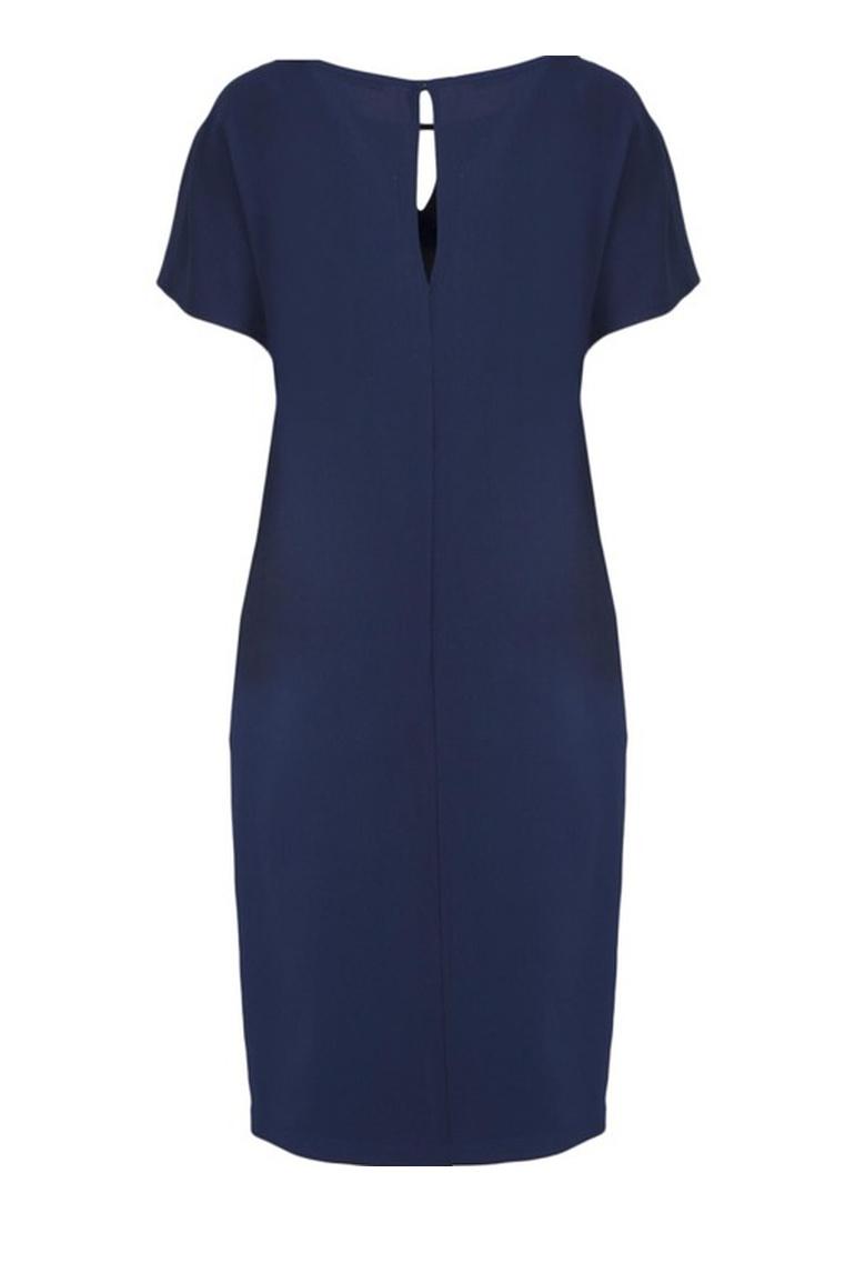Granatowa sukienka oversize