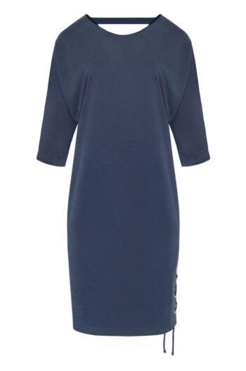 granatowa sukienka z modalu Vito Vergelis