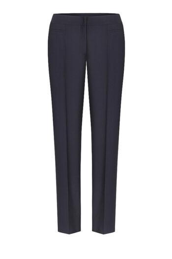 granatowe spodnie damskie w kant polskiej marki Vito Vergelis