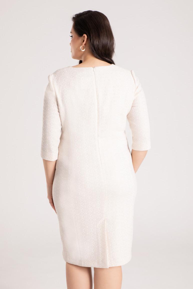 Vito Vergelis jasna wizytowa sukienka plus size z dlugim rekawem marki Vito Vergelis. Kolekcja wizytowa.