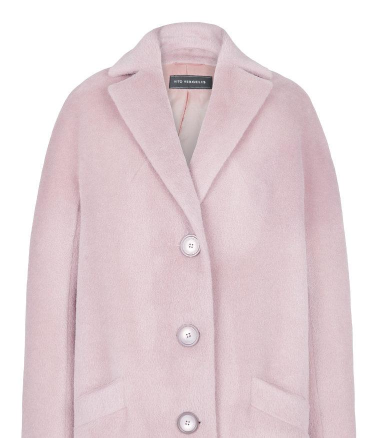 Jasnoróżowa kurtka z alpaki