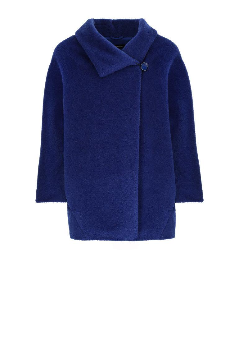 Kobaltowa kurtka z alpaki