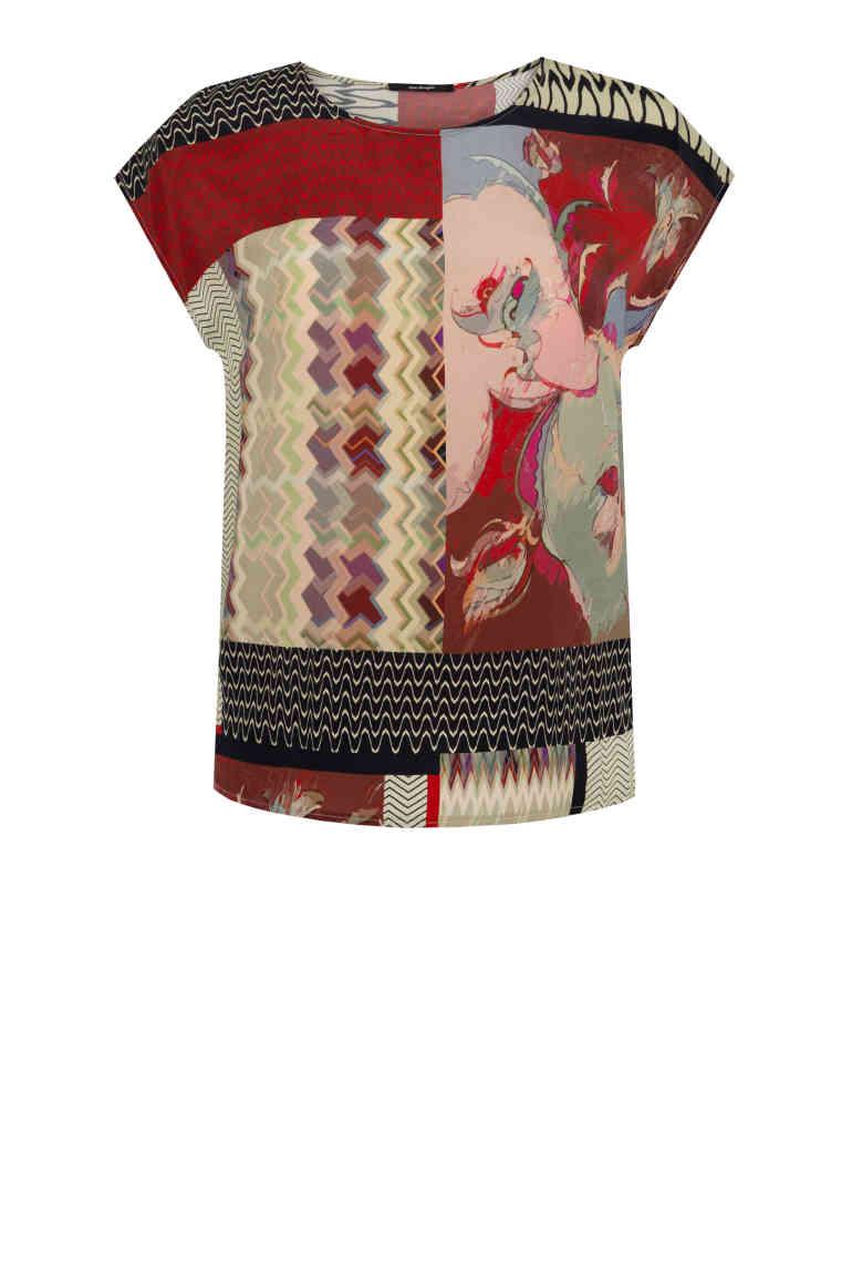kolorowa bluzka z wiskozy z cupro. Bluzka damska na lato Vito Vergelis