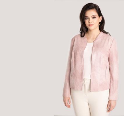 kolory pastelowe wiosna 2021 kurtki damskie polska marka Vito Vergelis rozmiary plus size