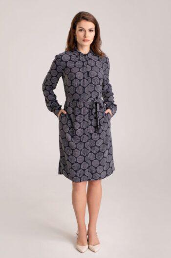 koszulowa sukienka z cupro z wiskozą marki Vito Vergelis