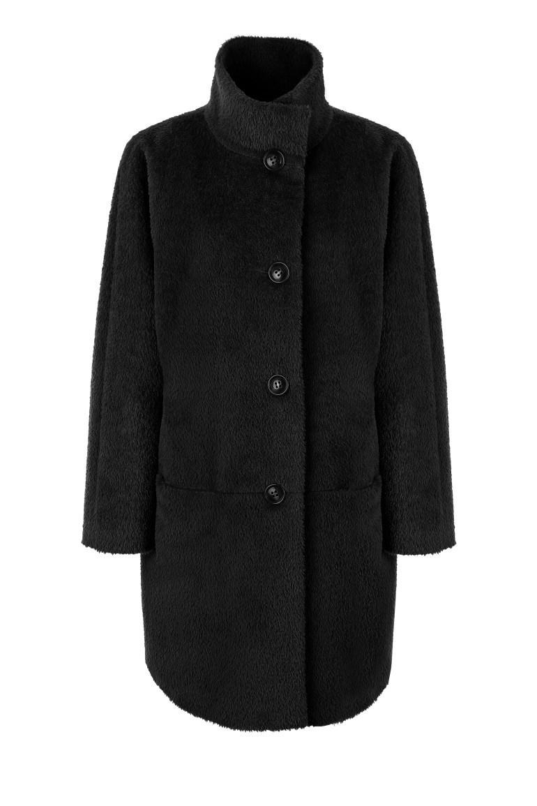 Czarna kurtka z alpaki